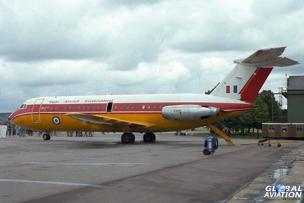 RAE BAC111-200AC XX105 - © Paul Filmer- Global Aviation Resource