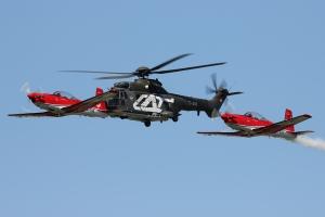 Swiss Air Force AS332M1 Super Puma & Team PC-7 © Dean West - globalaviationresource.com