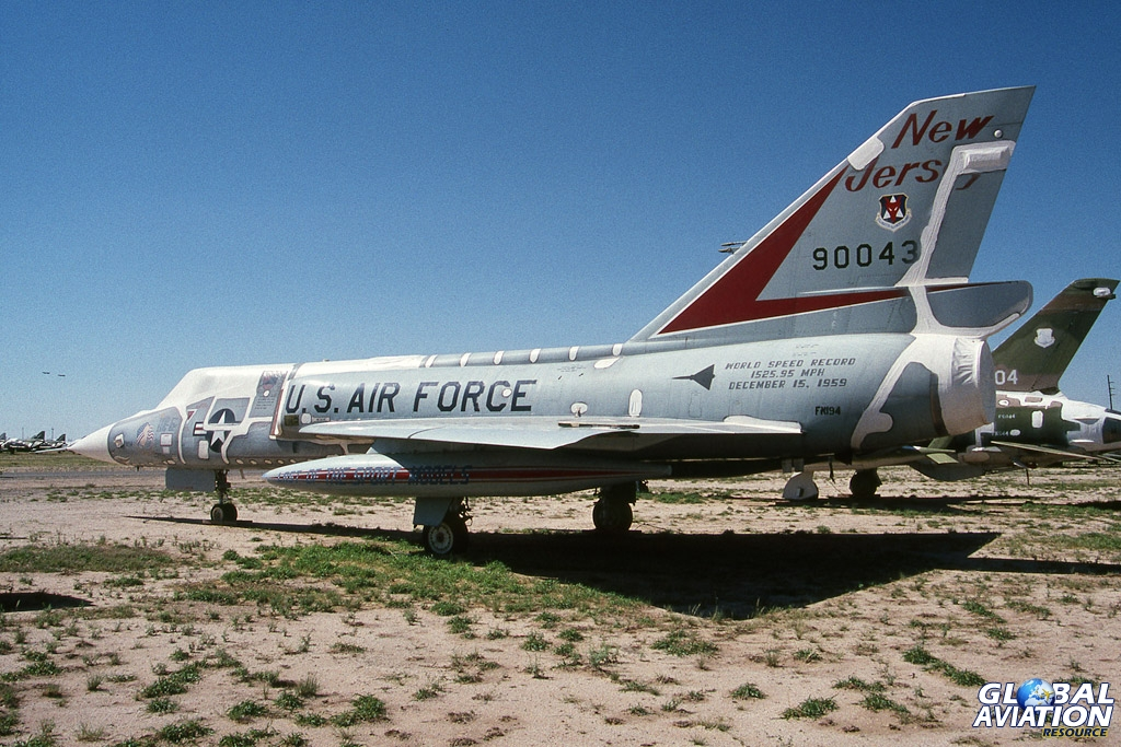 This famous record breaking F-106, formally with the NJ ANG was converted to a QF-106 at Tyndall AFB but survives intact to this day. (1987) © Kevin Jackson - globalaviationresource.com