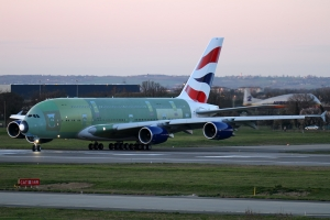 BA\'s third aircraft, to become G-XLEC, seen at Toulouse undergoing rejected take-off trials in March 2013 © Karl Drage - www.globalaviationresource.com