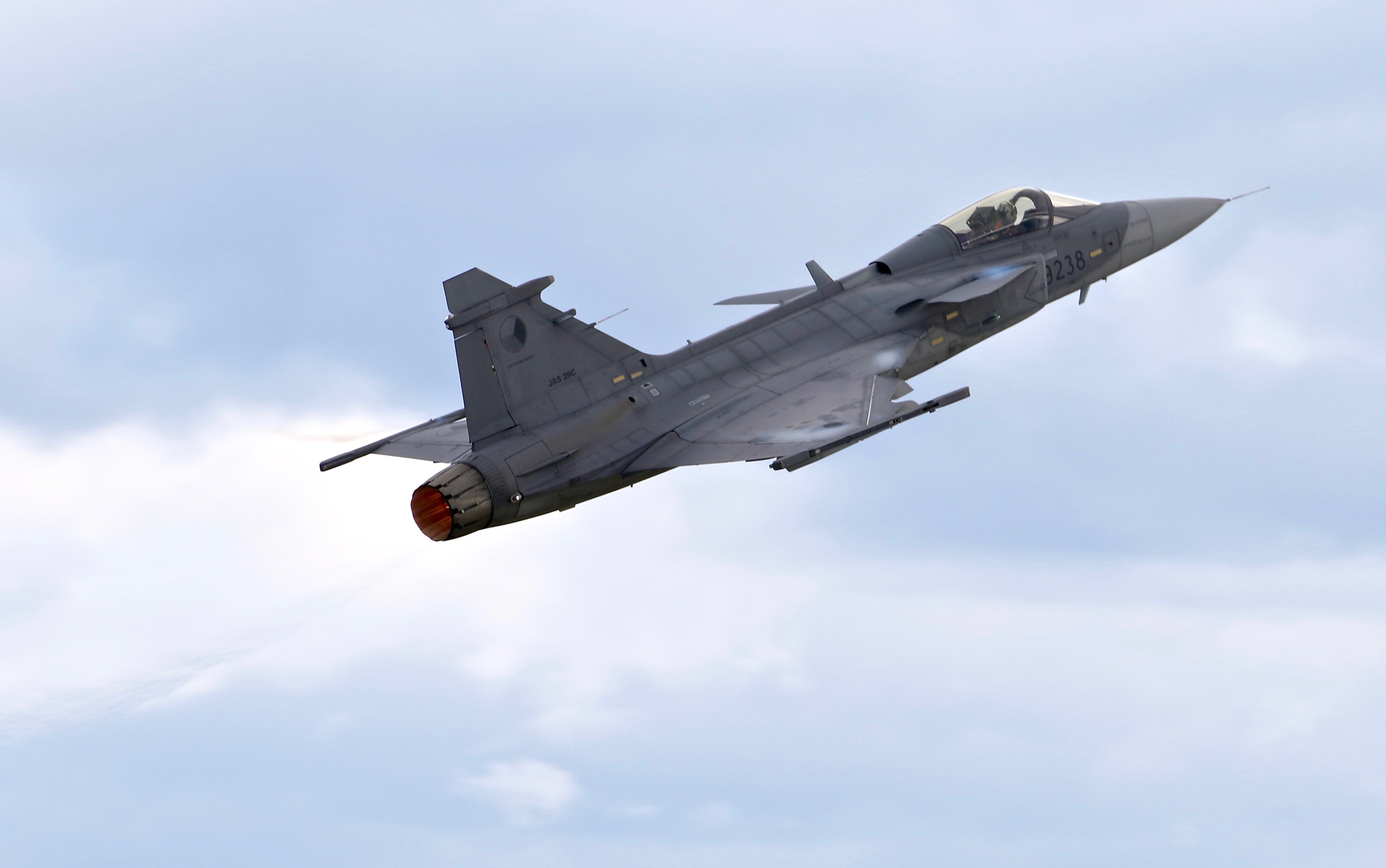 Czech AF Saab jas39c Gripen 9238 from 211 Squadron based at Caslav Airbase