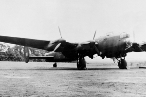 Guy Gibson\'s modified Lancaster B.I, ED825/G, pictured with and without the special \'Upkeep\' weapon designed by Barnes Wallis and used by 617 Squadron to attack dams in the Ruhr industrial heartland of Germany on 16/17 May 1943 © Crown Copyright
