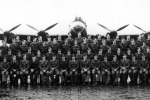 Members of 617 Squadron photographed at Scampton after the Dams raid in May 1943 © Crown Copyright