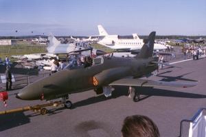 Hawk 200 development aircraft at Farnborough in 1988 © Rob Edgcumbe - www.globalaviationresource.com