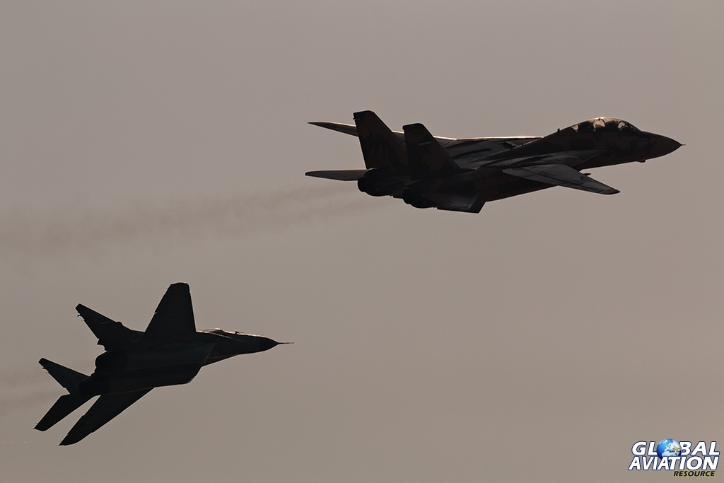 IRIAF F-14AM and and MiG-29B - © Paul Filmer - Global Aviation Resource