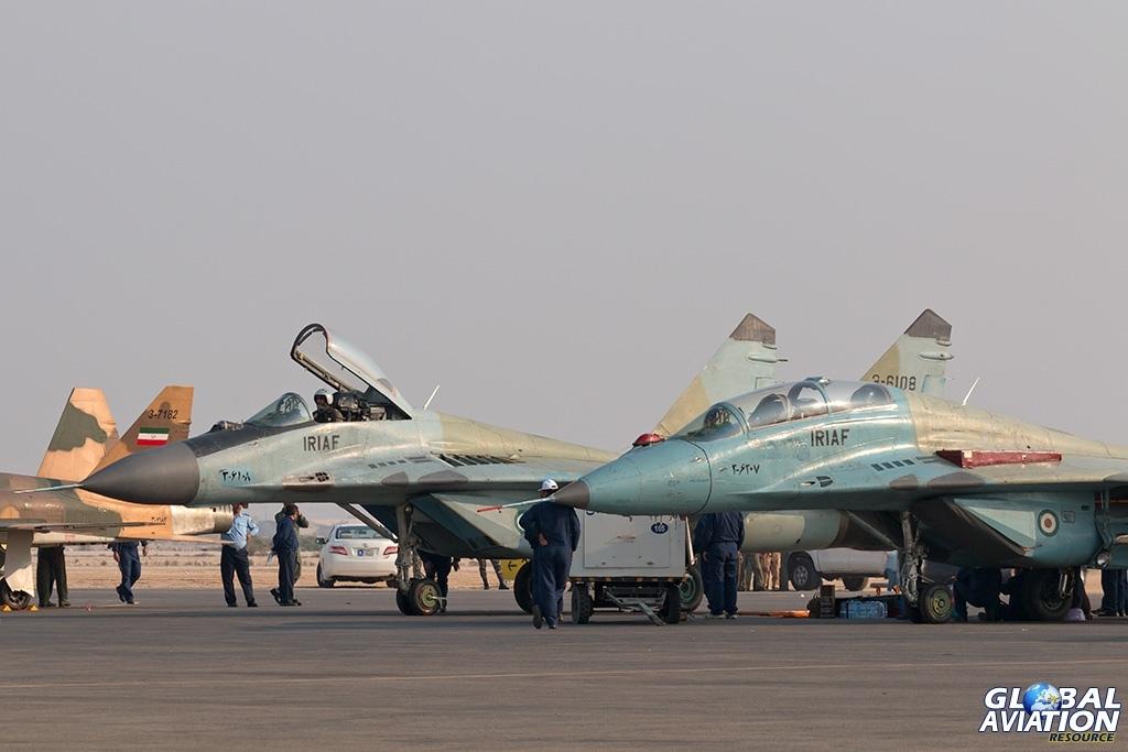 IRIAF MiG-29B and MiG-29UB - © Paul Filmer - Global Aviation Resource