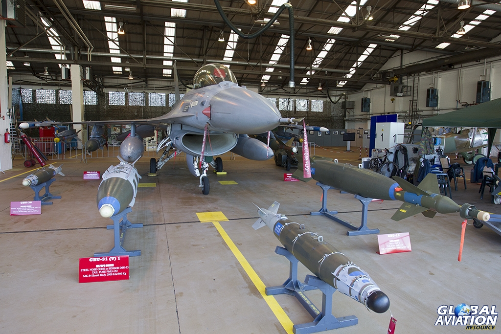 Belgian Air Force F-16AM & Weapons Display © Tom Gibbons - Global Aviation Resource