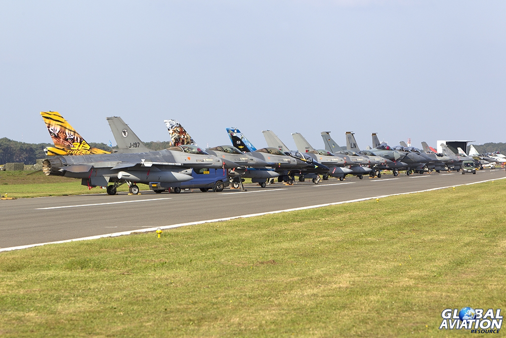 A view along the Belgian Air Force Days Static Fighter Line © Tom Gibbons - Global Aviation Resource