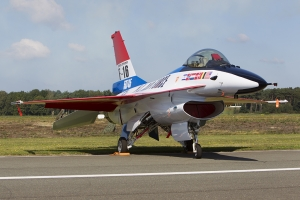 Belgian Air Force F-16AM specially marked to represent one of the F-16 development fleet aircraft © Tom Gibbons - Global Aviation Resource