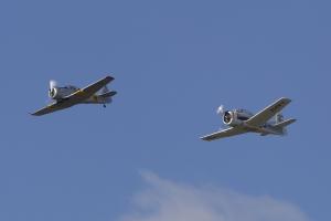 T-6G Texan & T-28B Trojan Formation © Tom Gibbons - Global Aviation Resource