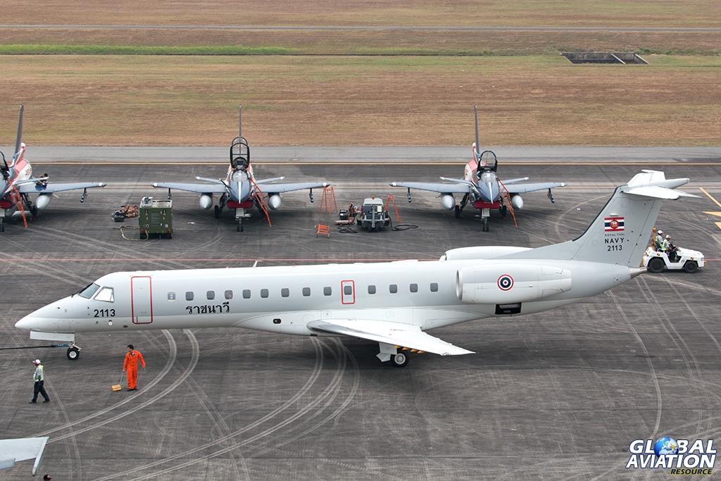 Royal Thai Navy ERJ135LR - © Paul Filmer - Global Aviation Resource