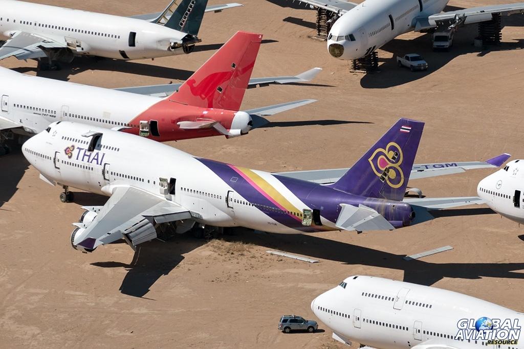 Thai Airways Boeing 747-400 HS-TGM - © Paul Filmer - Global Aviation Resource