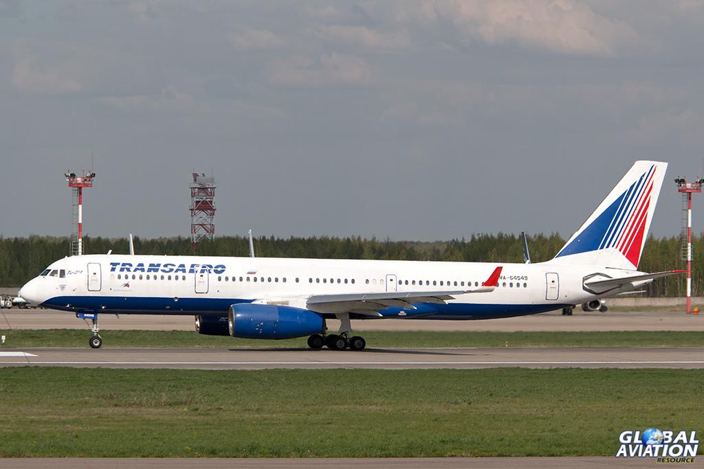 Transaero Tu-214 at Domodedovo - © Paul Filmer - Global Aviation Resource