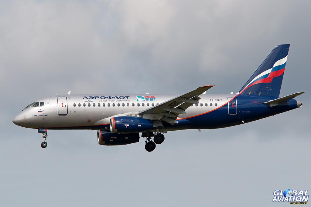 Aeroflot Superjet at Sheremetyevo - © Paul Filmer - Global Aviation Resource