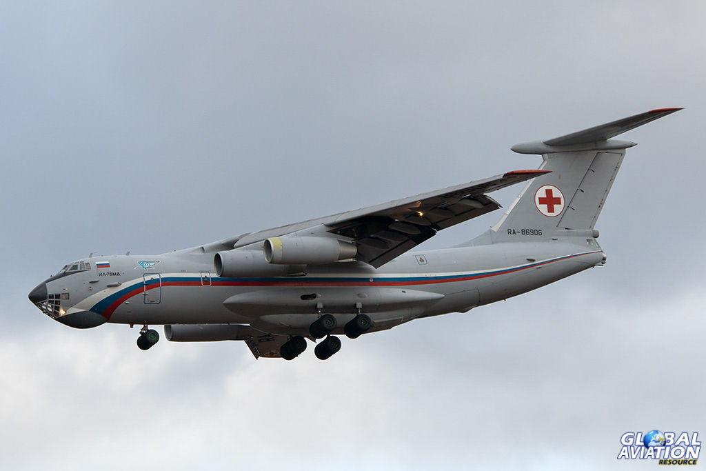 Russian Air Force Il-76MD (medivac) at Chkalovsky - © Paul Filmer - Global Aviation Resource