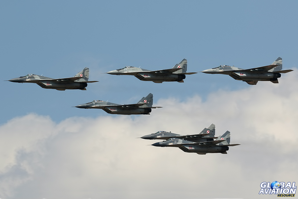 MiG-29A Fulcrums © Dean West – Global Aviation Resource