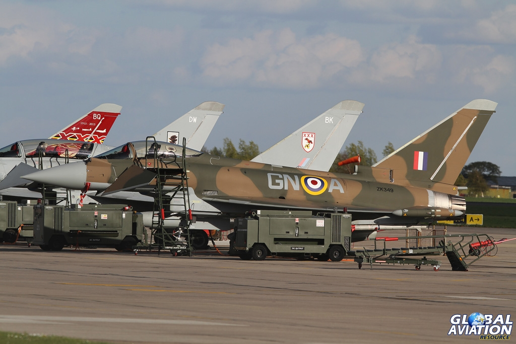 Parked on the line outside 29(R) Squadron © Chris Wood - Global Aviation Resource