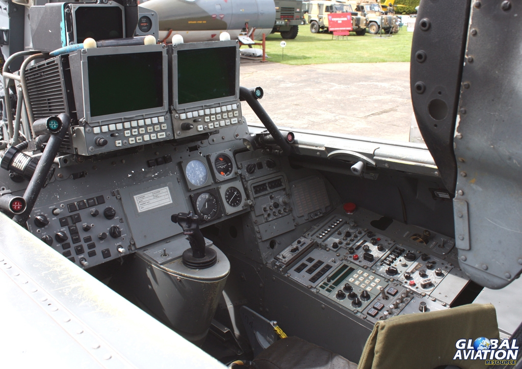 The rear cockpit of a Tornado F3, single stick variant © Dave Gledhill