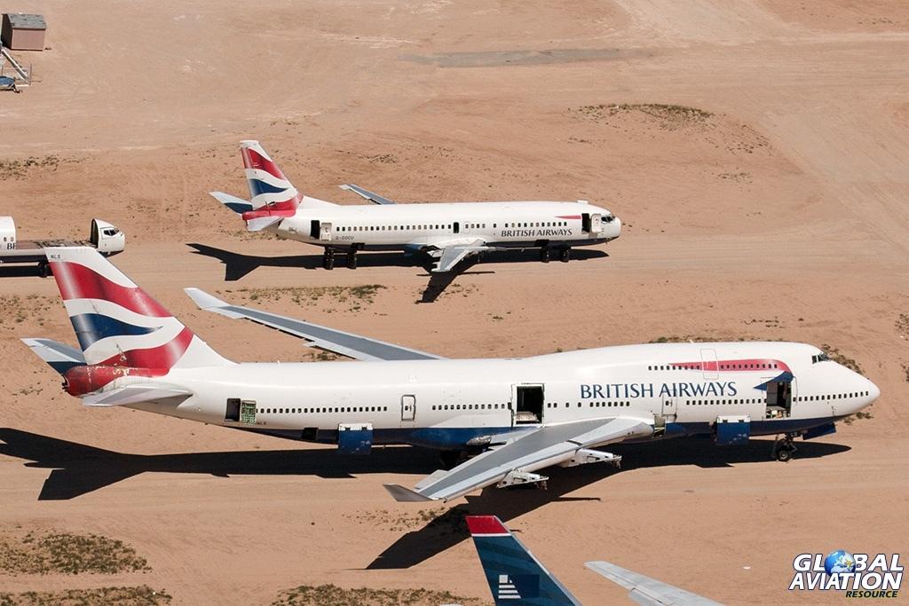 British Airways Boeing 747-400 G-BNLS and Boeing 737-400 G-DOCU - © Paul Filmer - Global Aviation Resource