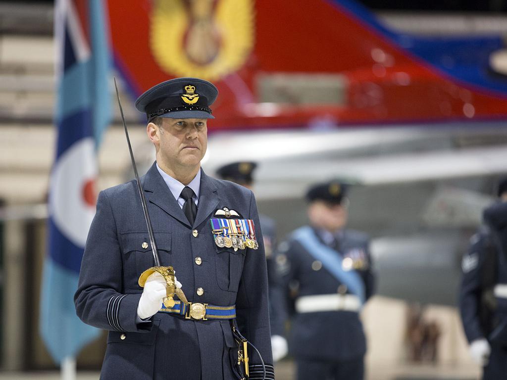 Wg Cdr Jon Nixon on parade © Crown Copyright / RAF Lossiemouth