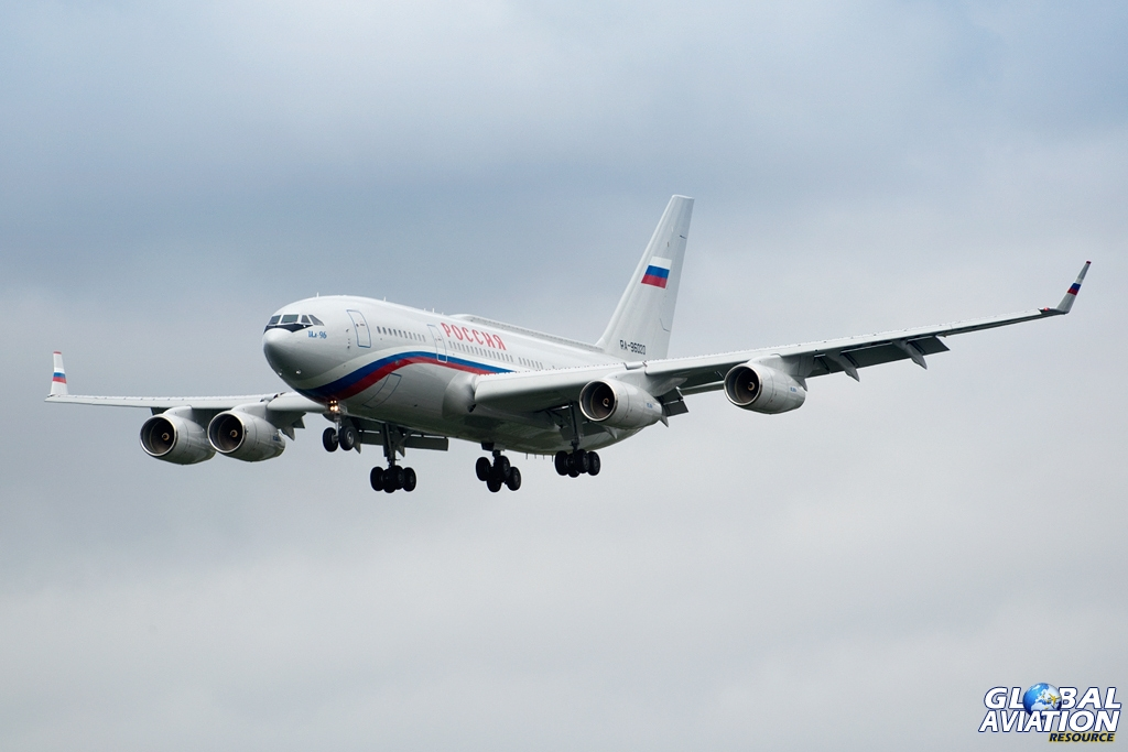 Aviation News – Russia's G8 delegation arrives at London Heathrow Airport, 16/06/13