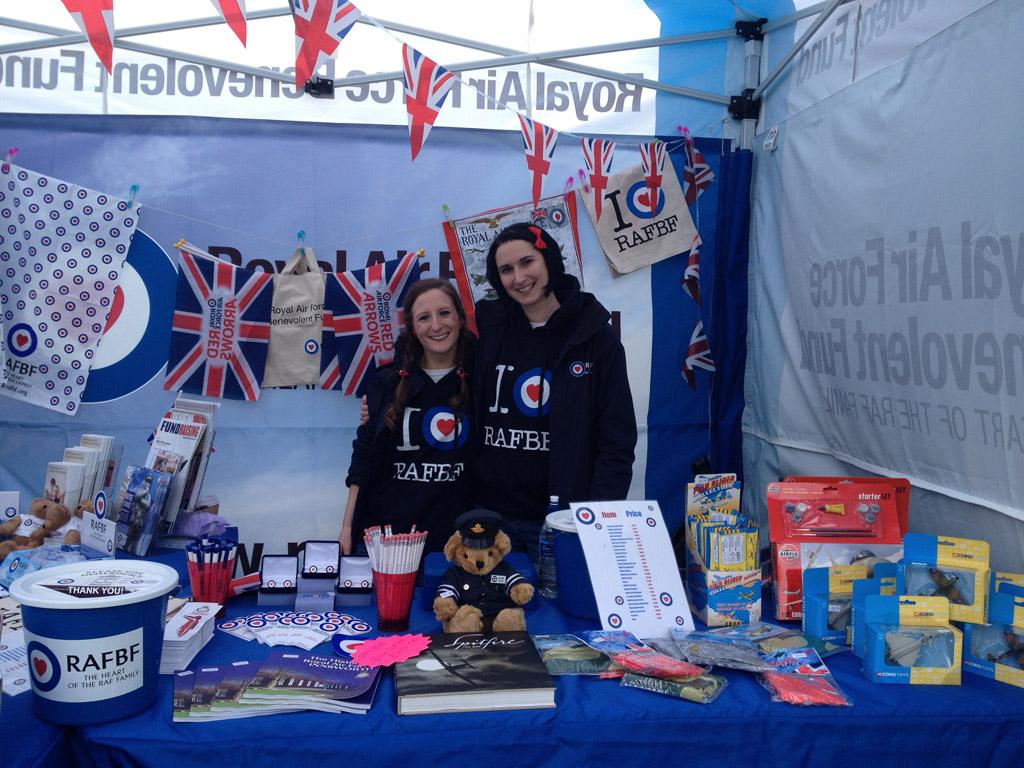 RAFBF fundraising at an airshow