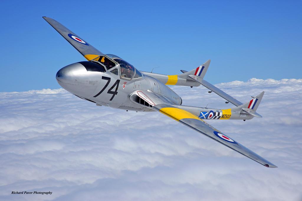 Classic Jets in Focus – de Havilland Vampire T.11 WZ507 (G-VTII)