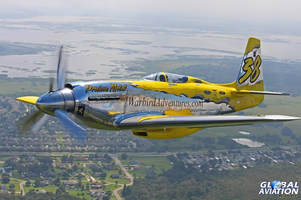 "Aviation Feature – World Jet Inc P-51XR N6WJ ""Precious Metal"""