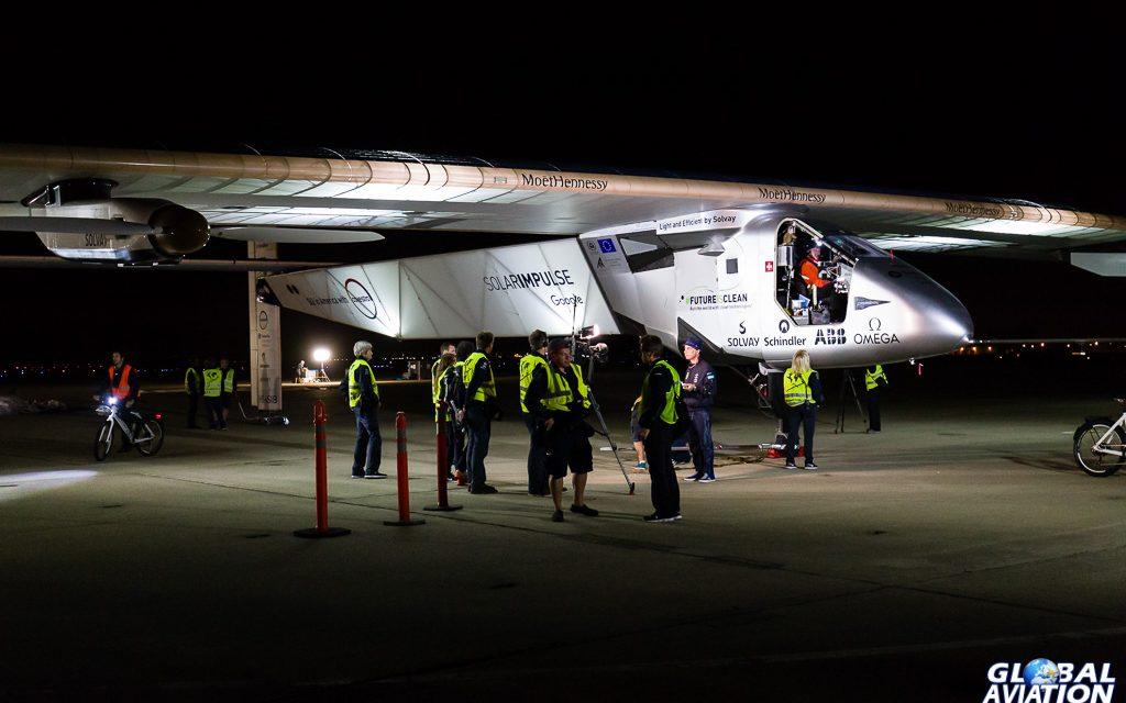 Aviation Event – Solar Impulse Leaves California