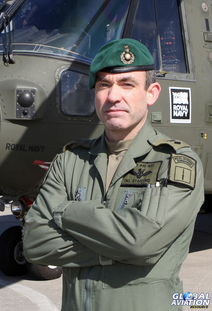 Lt Col Derek Stafford MBE RM, Commanding Officer of 846 Naval Air Squadron - © Kevin Wills - www.globalaviationresource.com