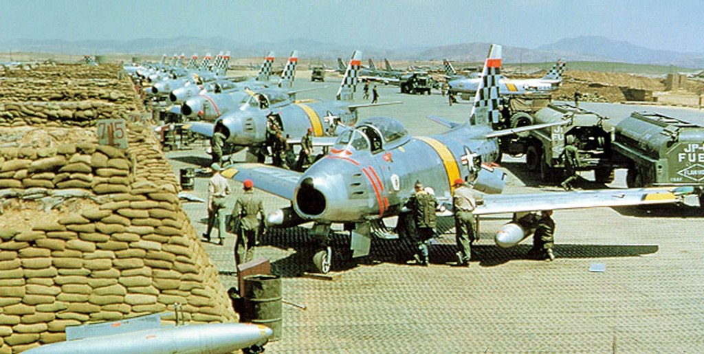 51st FIW flight line during the Korean War - USAF