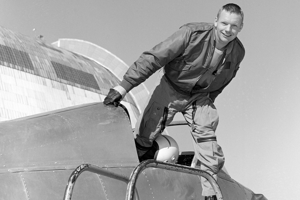 Neil Armstrong in the cockpit of the Bell X-14 - February 1964 - NASA
