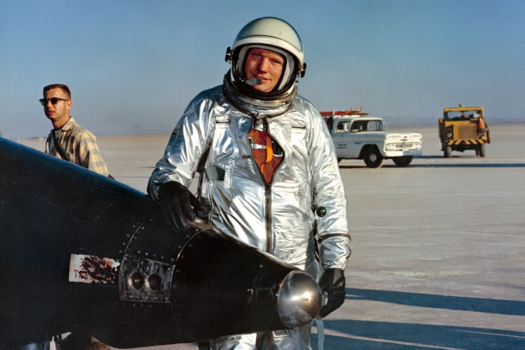Neil Armstrong after an X-15 flight - NASA