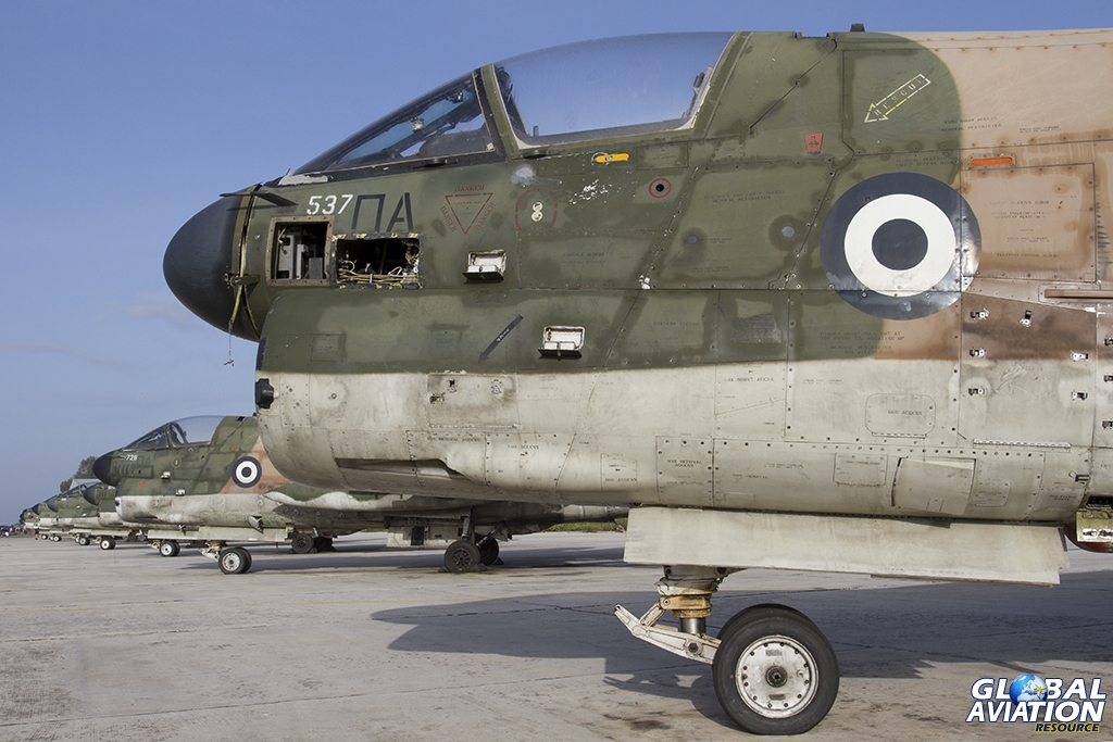 160537 A-7E HAF/336 Mira heads a line of Corsairs now withdrawn from use © Tom Gibbons - Global Aviation Resource