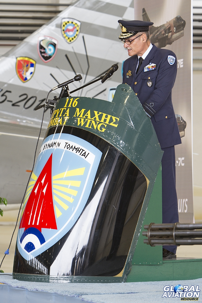 Chief of HAFGS (Hellenic Air Force General Staff), Lieutenant General Evangelos Tournas © Tom Gibbons - Global Aviation Resource