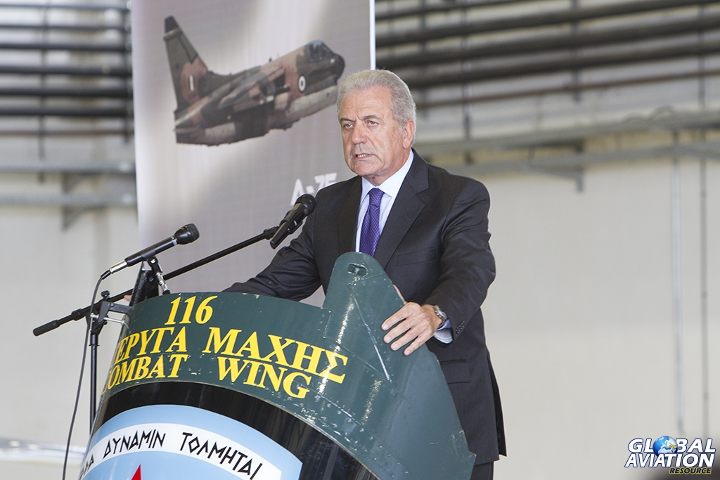 Minister of National Defence, Dimitris Avramopoulos © Tom Gibbons - Global Aviation Resource