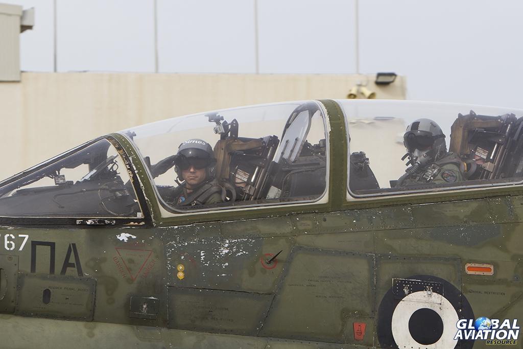 TA-7C crew salute the gathered photographers © Tom Gibbons - Global Aviation Resource