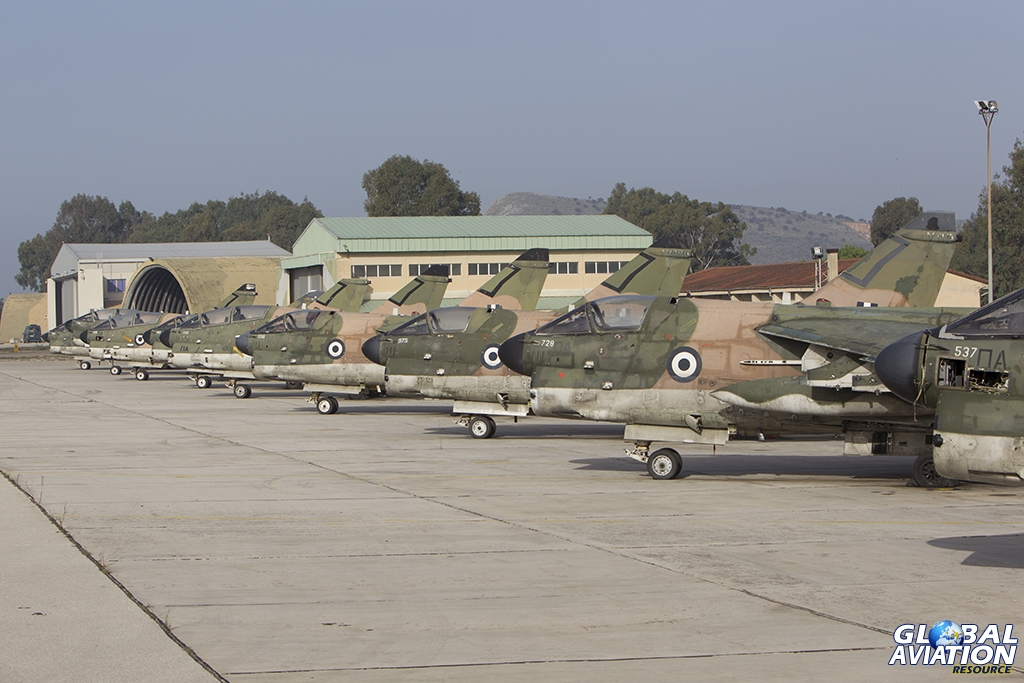 Corsairs at rest - a line of withdrawn from use A-7's  © Tom Gibbons - Global Aviation Resource