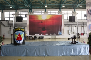 The ceremony stage awaits the day\'s proceedings © Tom Gibbons - Global Aviation Resource