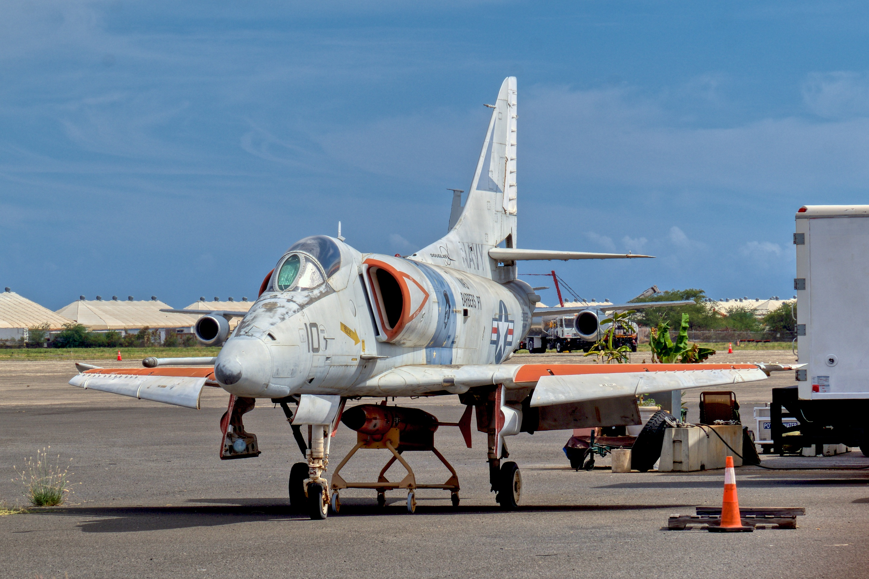 This combat veteran Douglas A-4E Skyhawk flew with TOPGUN for 16 years. © Hayman Tam - Global Aviation Resource