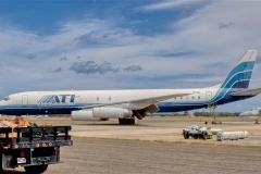 July 2021 Hawaii trip,  airliner,  Barbers Point, N799AL Air Transport International Douglas DC-8-62CF,