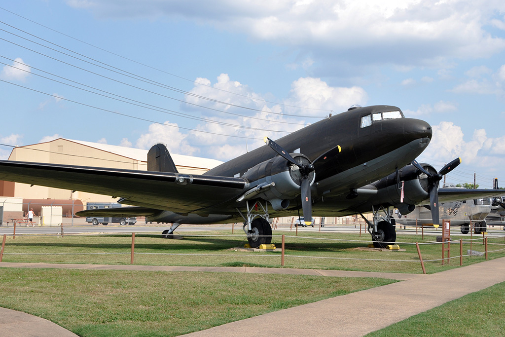 C-47A ex G-BCGCF at the Barksdale AFB museum as 43-16130 - © Jeff Walston
