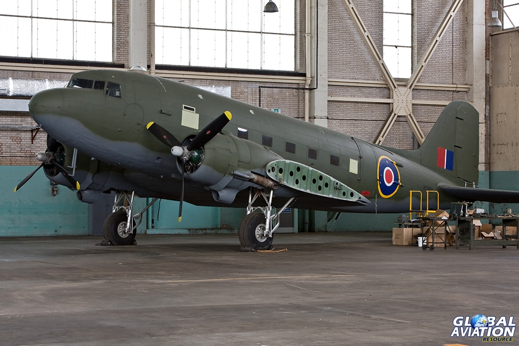C-47B KG651 at RAF Shawbury with the Assault Glider Trust in 2008 - © Paul Filmer - Global Aviation Resource