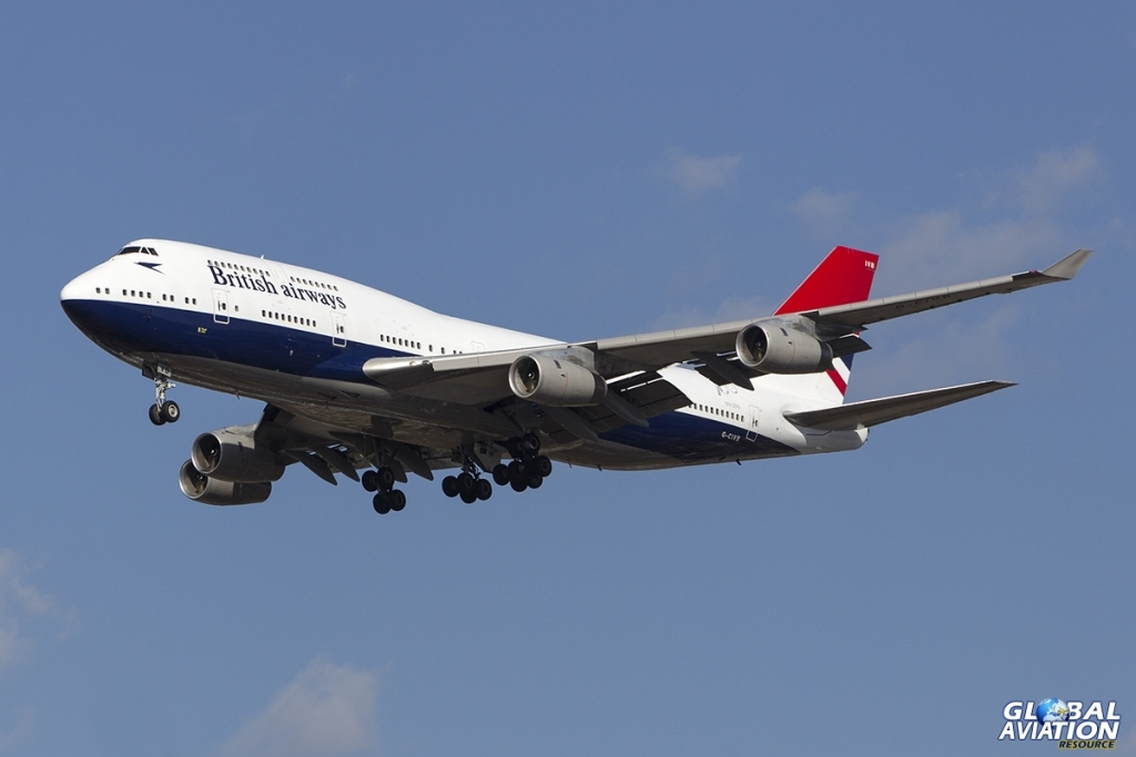 G-CIVB Boeing 747-436 British Airways 'Negus' retro livery. BA274 arriving at London Heathrow from Las Vegas McCarran, 24 March 2019 © Tom Gibbons - Global Aviation Resource