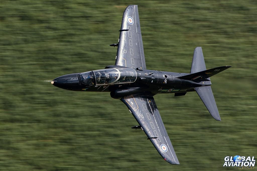 Hawk T1A XX158 low level in Wales in 2013 - © Paul Filmer - Global Aviation Resource