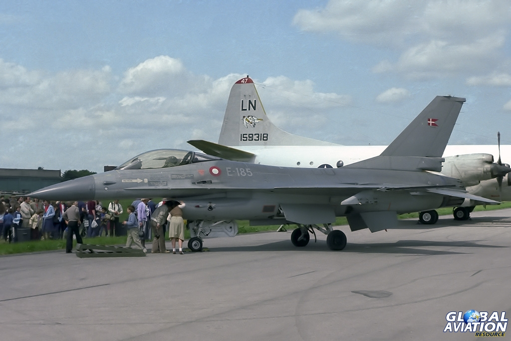 Royal Danish Air Force F-16A E-185 - © Paul Filmer - Global Aviation Resource