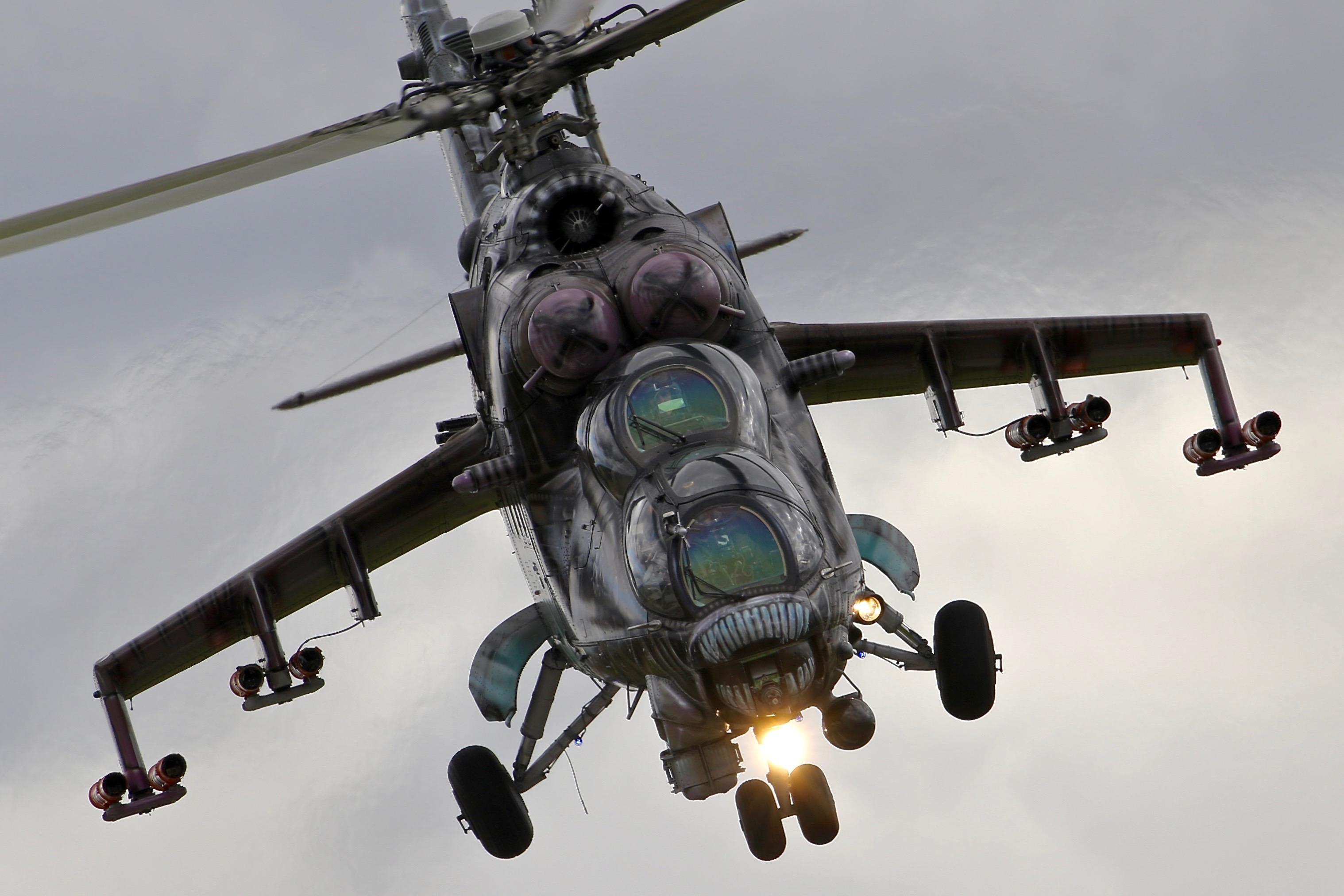 Mi-35 Hind in alien tiger markings