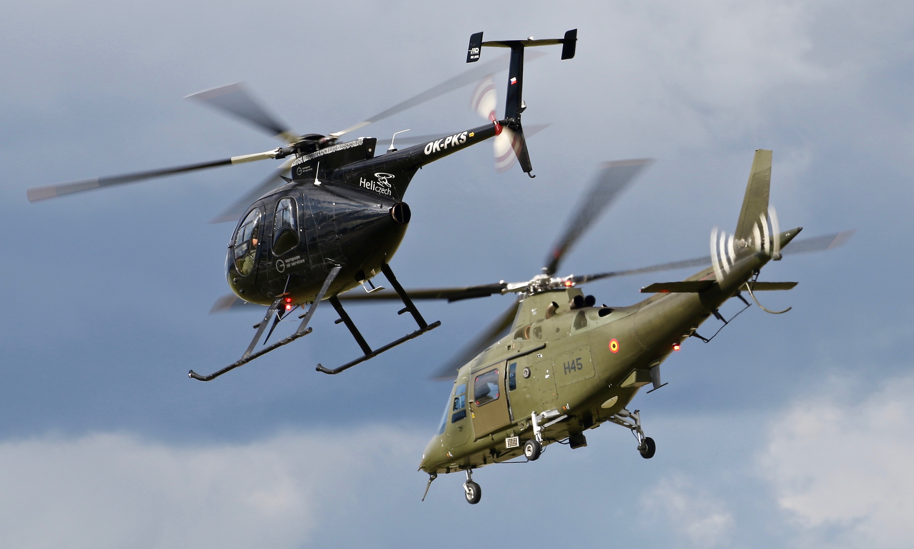 Belgium AF A109 and civilian MD500