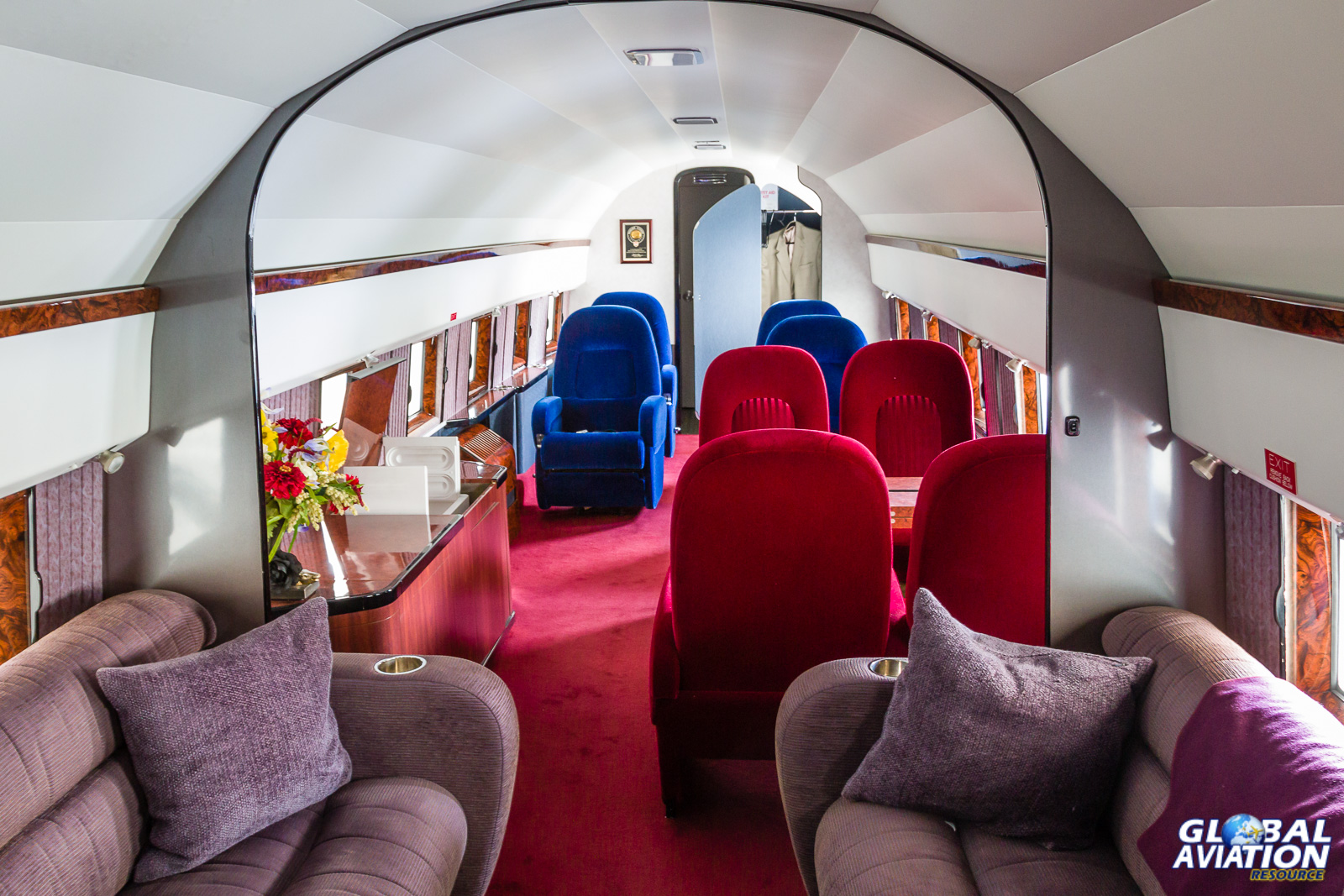 The DC-3's luxurious interior - © Rob Edgcumbe Global Aviation Resource