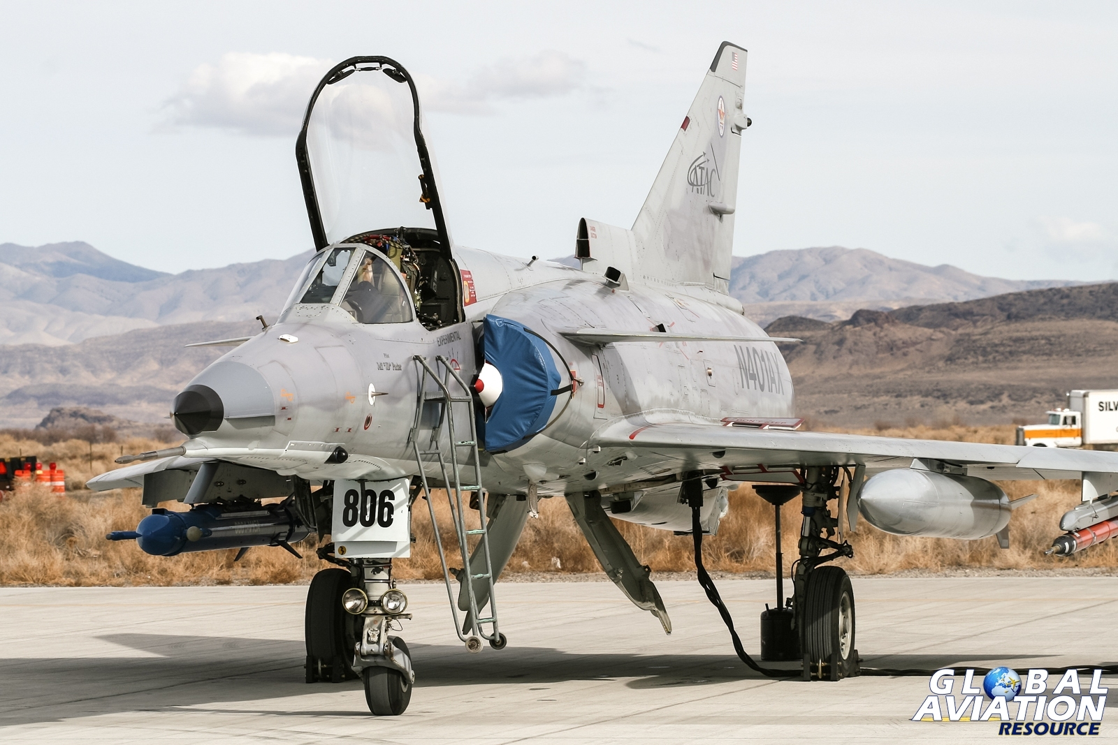 ATAC Kfir at Fallon in support of Air Wing training in 2008 © Karl Drage - Global Aviation Resource